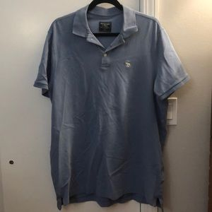 Men's XXL blue/gray polo Abercrombie & Fitch